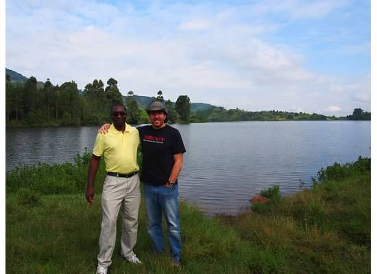 Me and a CHASS colleague in the African Rift Valley, Uganda