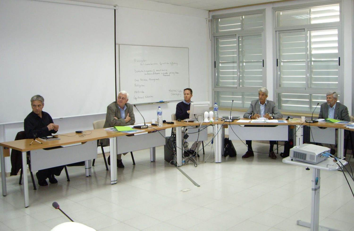 Instructors of conservation agriculture short-course in Zaragoza, Spain