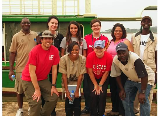 Students and faculty on Uganda trip, 2013