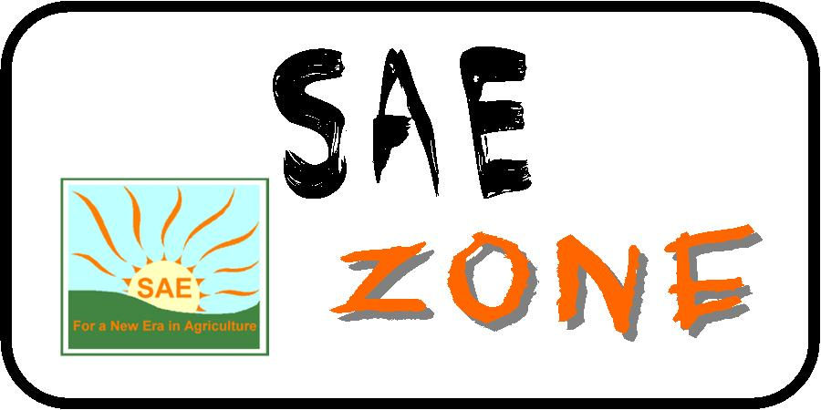 Picture of FFA Emblem and says SAE Zone